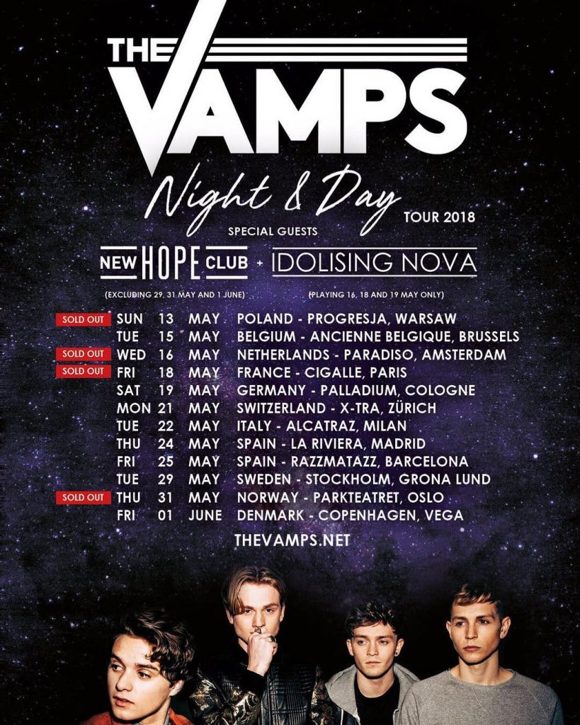 The Vamps European Tour